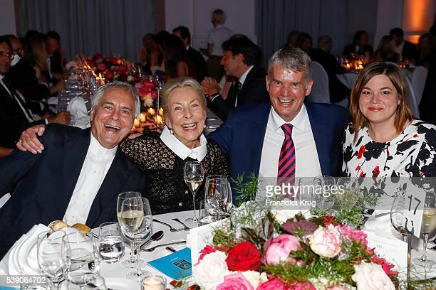 John Neumeier, Edda Darboven, Hermann Reichenspurner and Katharina Fegebank attend the 'Das Herz im Zentrum' Charity Gala on June 9, 2016 in Hamburg,...