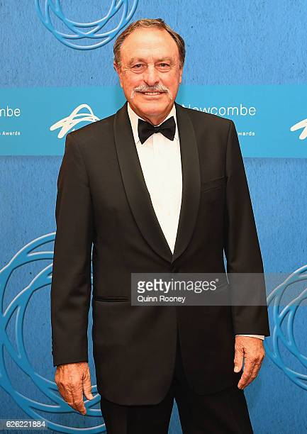 John Newcombe arrives ahead of the 2016 Newcombe Medal at Crown Palladium on November 28 2016 in Melbourne Australia