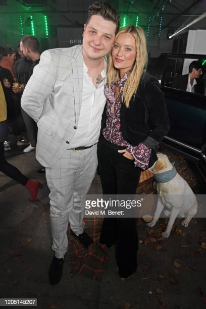 John Newman and Laura Whitmore attend the launch of Berkley London a bespoke luxury chauffeur concierge founded by John Newman at The Yard Shoreditch...