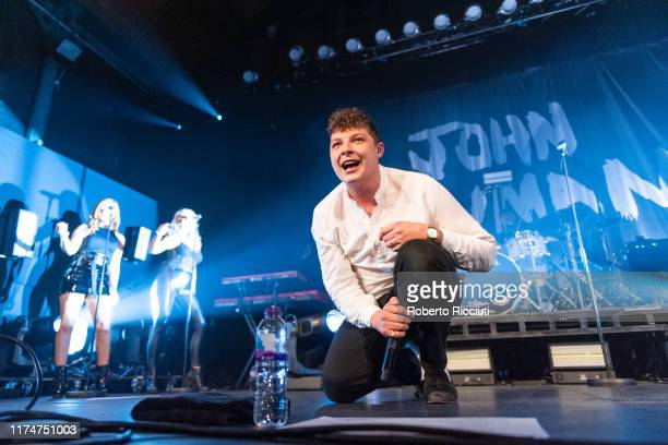 John Newman performs on stage at Glasgow's Old Fruitmarket on October 9 2019 in Glasgow Scotland