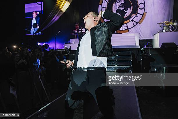 John Newman performs on stage at Sheffield Arena on March 12, 2016 in Sheffield, England.