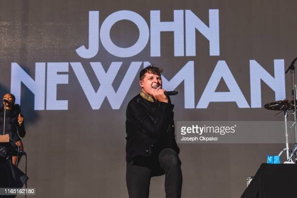 John Newman performs on stage during day 2 of Fusion Festival 2019 on August 31 2019 in Liverpool England
