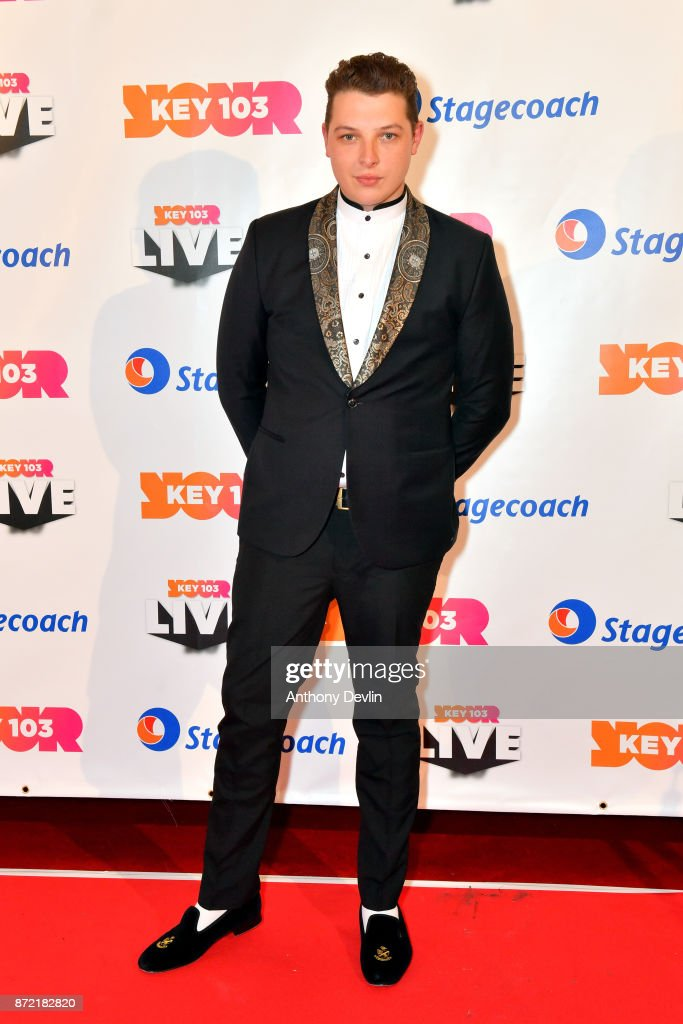 John Newman poses before perfoming at Key 103 Live held at the Manchester Arena on November 9, 2017 in Manchester, England.