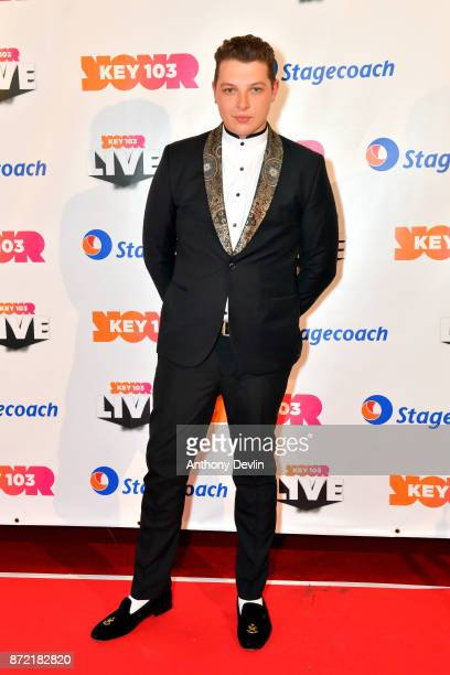John Newman poses before perfoming at Key 103 Live held at the Manchester Arena on November 9 2017 in Manchester England