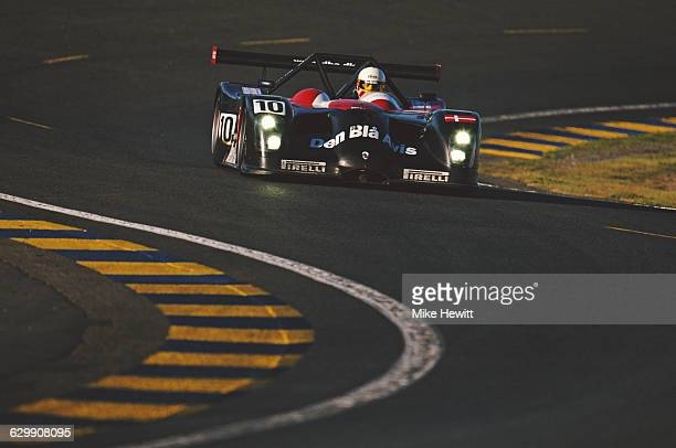 John Nielsen of Denmark drives the LMP900 Team Den Bla Avis Panoz LMP1 RoadsterS during the ACO European Le Mans Series 24 Hours of Le Mans on 17...