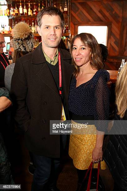 John Nien and Janna Levin attend the Alfred P Sloan Foundation Dinner during the 2015 Sundance Film Festival on January 27 2015 in Park City Utah