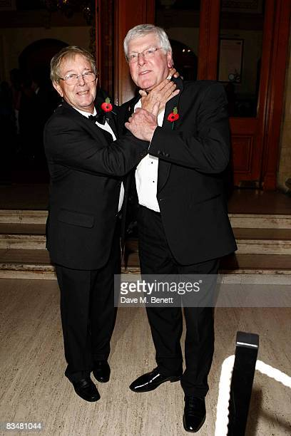 John Noakes and Peter Purves attend the National Television Awards 2008 at the Royal Albert Hall on October 29 2008 in London England