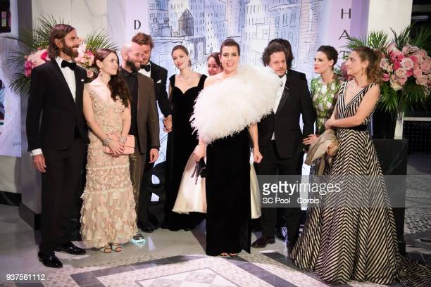 John Nollet Guests Pierre Casiraghi Beatrice Casiraghi Princess Alexandra of Hanover Charlotte Casiraghi Dimitri Rassam a guest Juliette Maillot and...