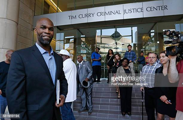 John Nolley walks from the Tim Curry Criminal Justice Center to lunch with family friends and his legal team on May 17 2016 in Fort Worth Texas John...