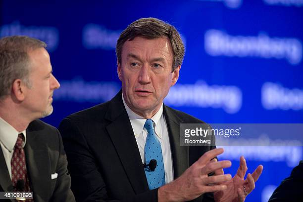 John Noseworthy president and chief executive officer of the Mayo Clinic speaks at the Bloomberg Year Ahead 2014 conference in Chicago Illinois US on...