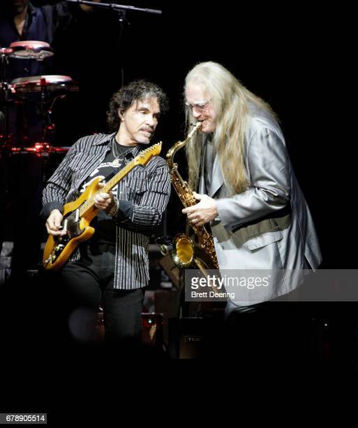 John Oates and Charles DeChant of Hall and Oates performs at BOK Center on May 4 2017 in Tulsa Oklahoma