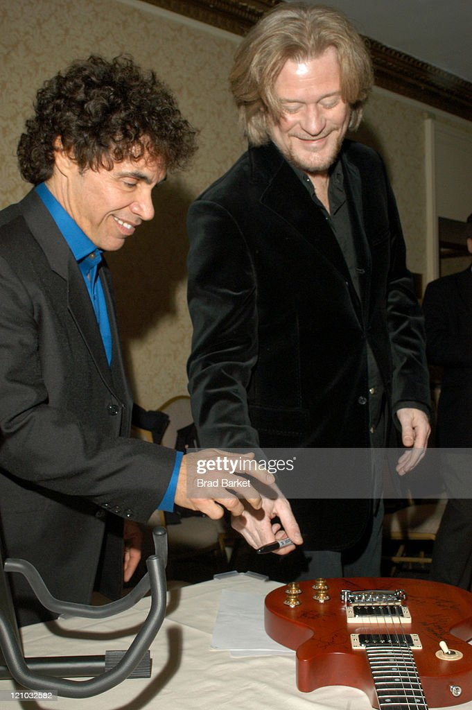 John Oates and Daryl Hall during New York Chapter of The Recording Academy Celebrates Their 2003 Hero's Awards Gala at The Roosevelt Hotel in New York City, New York, United States.