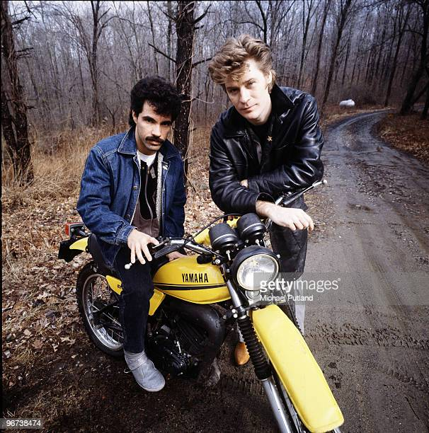 John Oates and Daryl Hall of American pop duo Hall and Oates New York State February 1983