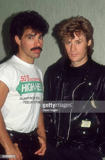 John Oates and Daryl Hall of pop duo Hall Oates 1987