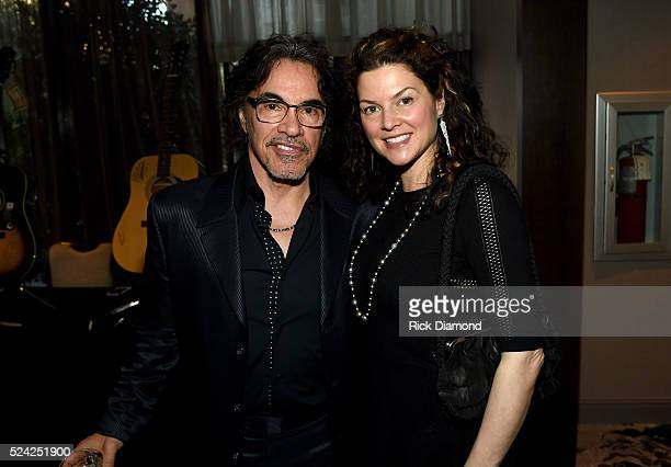 John Oates of musical group Hall Oates and Aimee Oates attend the Nashville Best Cellars Dinner at the Loews Vanderbilt Hotel on April 25 2016 in...
