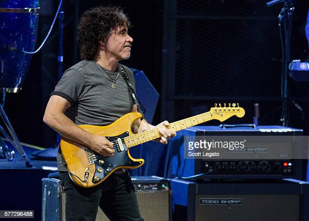 John Oates of the Daryl Hall & John Oates band performs at DTE Energy Music Theater on July 18, 2016 in Clarkston, Michigan.