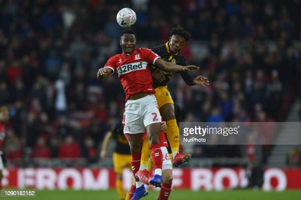 John Obi Mikel in action for Middlesbrough during the FA Cup match between Middlesbrough and Newport County at the Riverside Stadium Middlesbrough on...