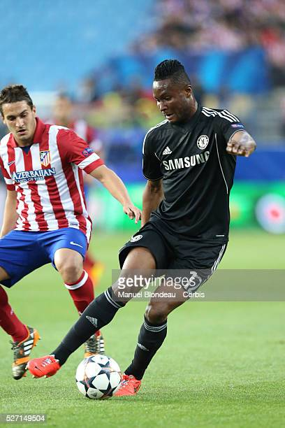 John Obi Mikel of Chelsea FC during the UEFA Champions League Semifinal first leg match between Club Atletico de Madrid and Chelsea FC at the Vicente...