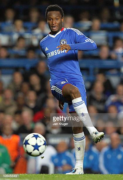 John Obi Mikel of Chelsea in action during the UEFA Champions League Group F match between Chelsea and Marseille at Stamford Bridge on September 28...