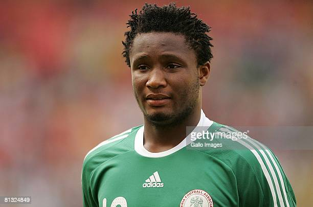 John Obi Mikel of Nigeria before the AFCON and 2010 World Cup Qualifier between Nigeria and South Africa at Abuja Stadium on June 01, 2008 in Abuja,...