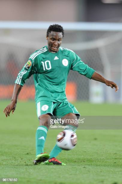 John Obi Mikel of Nigeria during the Africa Cup of Nations Quarter Final match between Zambia and Nigeria from the Alto da Chela Stadium on January...