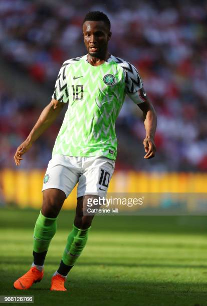 John Obi Mikel of Nigeria during the International Friendly match between England and Nigeria at Wembley Stadium on June 2 2018 in London England
