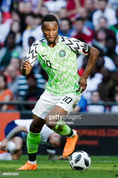 John Obi Mikel of Nigeria during the International Friendly match between England v Nigeria at the Wembley Stadium on June 2 2018 in London United...