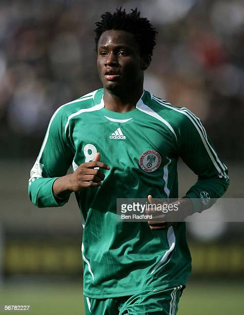 John Obi Mikel of Nigeria in action during The African Cup of Nations, Semi Final match between Ivory Coast and Nigeria at The Haras El Hedod Stadium...