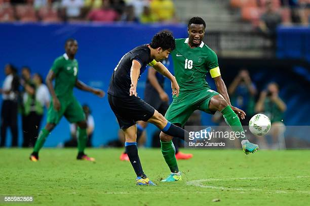 John Obi Mikel player of Nigeria in action during 2016 Summer Olympics match between Japan and Nigeria at Arena Amazonia on August 4 2016 in Manaus...