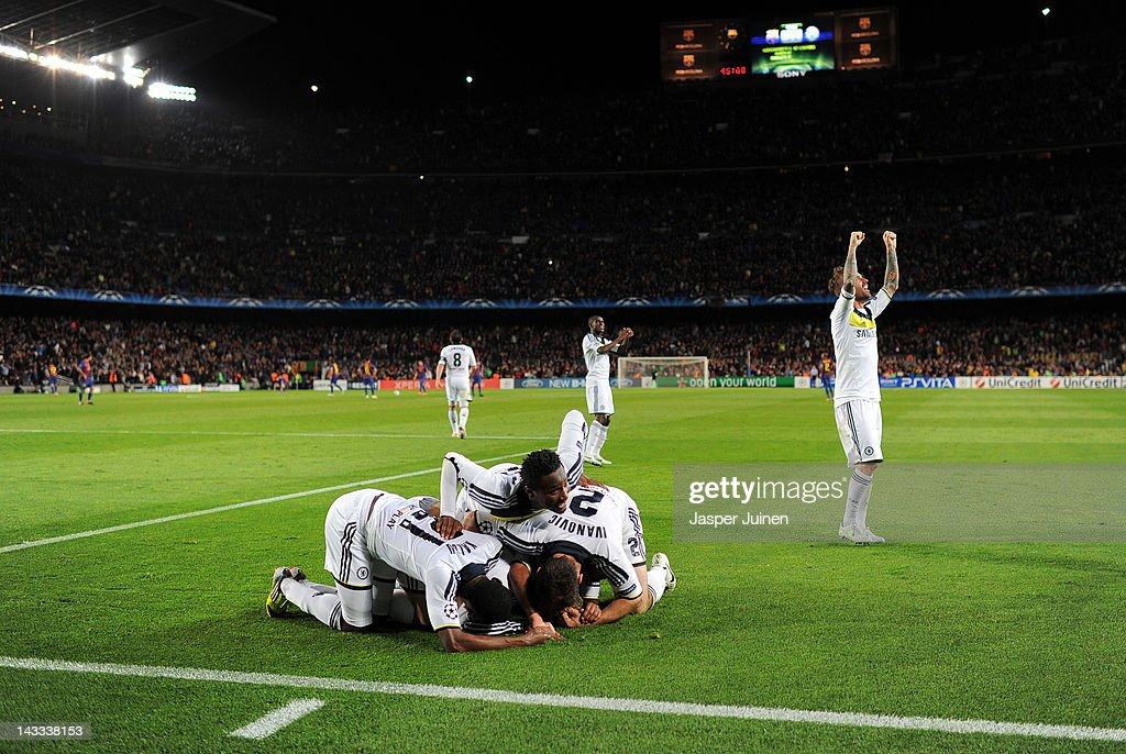 FC Barcelona v Chelsea FC - UEFA Champions League Semi Final : News Photo