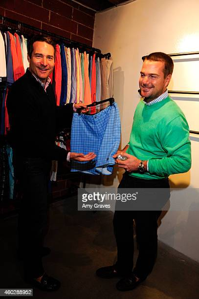 John O'Donnell and Chris O'Donnell attend the JohnnieO Holiday Party at johnnieO Mission Control on December 10 2014 in Los Angeles California