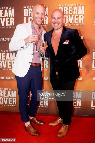 John Ohara and Nicholas Pasarros attends opening night of Dream Lover The Bobby Darin Musical at Melbourne Arts Centre on December 31 2017 in...