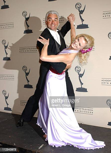 John O'Hurley and Charlotte Jorgensen during 2005 Emmy Creative Arts Awards Press Room at Shrine Auditorium in Los Angeles CA United States