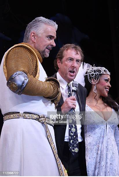 John O'Hurley and Eric Idle during Opening Night For 'Spamalot' At The Wynn Las Vegas Arrivals at Wynn Hotel Casino in Las Vegas Nevada United States