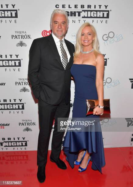 John O'Hurley and Lisa Mesloh attend Celebrity Fight Night XXV on March 23 2019 in Phoenix Arizona