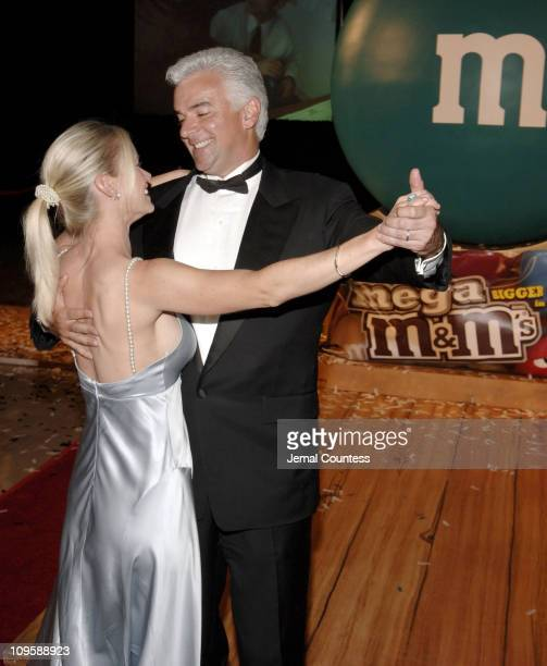 John O'Hurley and wife Lisa during John O'Hurley Joins M&M's Brand Chocolate Candies in Introducing the New Mega M&M's for Adults at Vanderbilt Hall,...