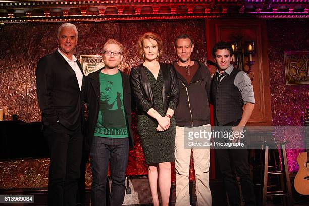 John O'Hurley Anthony Rapp Kate Baldwin Adam Pascal and Jarrod Spector attend Feinstein's/54 Below Press Preview at 54 Below on October 11 2016 in...