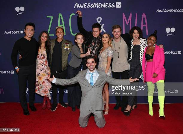 John Ohye Meg DeLacy Chantz Simpson Alexis G Zall Kian Lawley Jason Pearlman Anne Winters James Boyd Keli Daniels and Sabrina Revelle attend the 'Zac...
