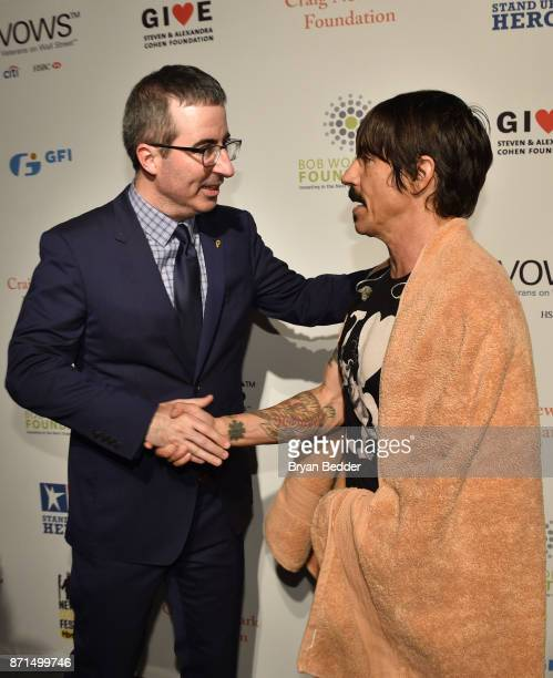 John Oliver and Anthony Kiedis attend the 11th Annual Stand Up for Heroes Event presented by The New York Comedy Festival and The Bob Woodruff...