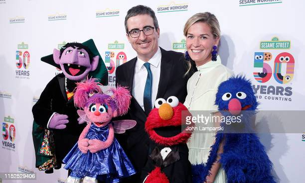 John Oliver and Kate Norley attend Sesame Workshop's 50th Anniversary Benefit Gala at Cipriani Wall Street on May 29, 2019 in New York City.