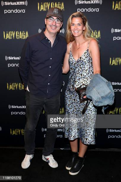 John Oliver and Kate Norley attend SiriusXM + Pandora Present Lady Gaga At The Apollo on June 24, 2019 in New York City.