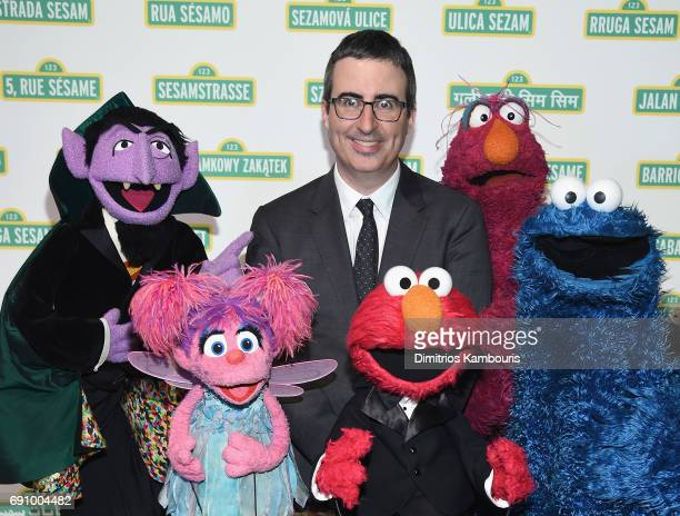 John Oliver and The Muppets attend The 2017 Sesame Workshop Dinner at Cipriani 42nd Street on May 31 2017 in New York City