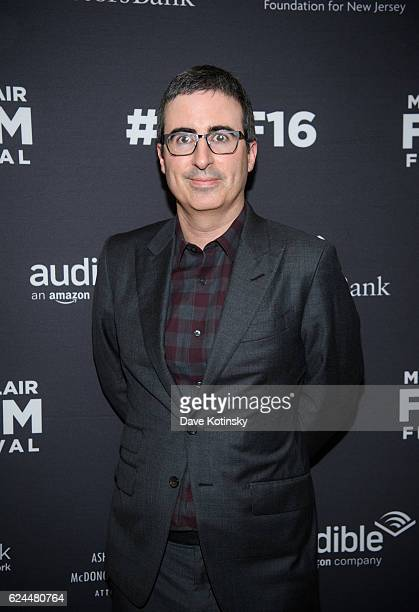John Oliver arrives at the PostElection Evening to Benefit Montclair Film Festival at NJ Performing Arts Center on November 19 2016 in Newark New...