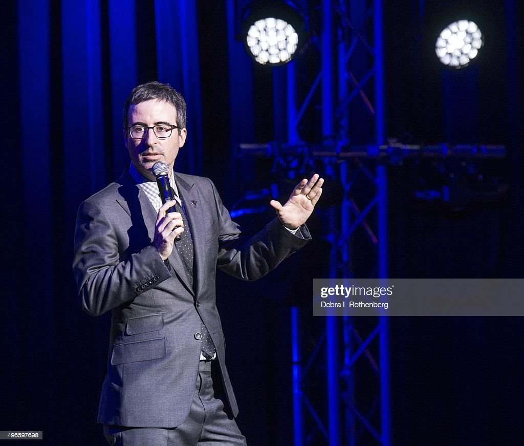 John Oliver at the 9th Annual Stand Up For Heroes Event presented by the New York Comedy Festival and the Bob Woodruff Foundation at Madison Square Garden on November 10, 2015 in New York City.