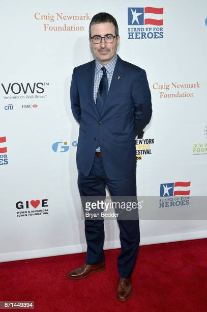 John Oliver attends the 11th Annual Stand Up for Heroes Event presented by The New York Comedy Festival and The Bob Woodruff Foundation at The...