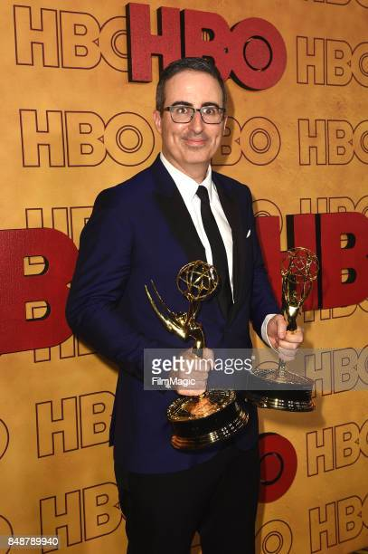 John Oliver attends the HBO's Official 2017 Emmy After Party at The Plaza at the Pacific Design Center on September 17 2017 in Los Angeles California