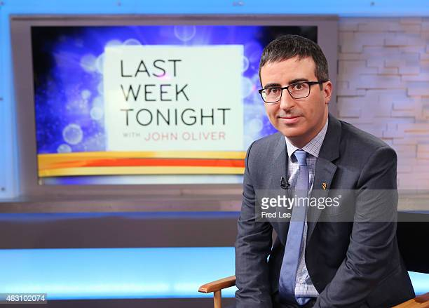 AMERICA John Oliver is a guest on Good Morning America 2/6/15 airing on the Walt Disney Television via Getty Images Television Network