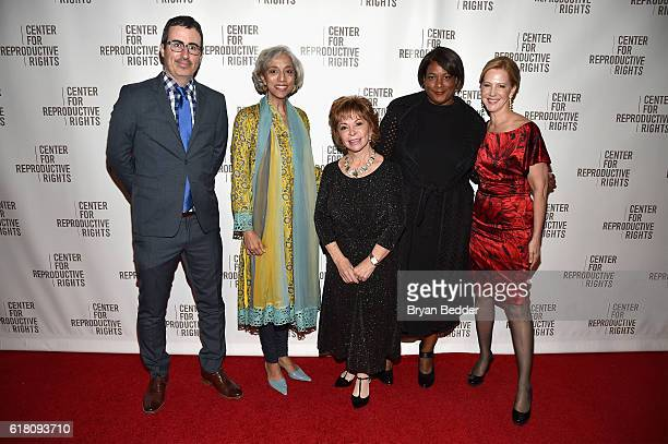 John Oliver Kavita Ramdas Isabel Allende Dawn Porter and Nancy Northup attend The Center for Reproductive Rights 2016 Gala at the Jazz at Lincoln...
