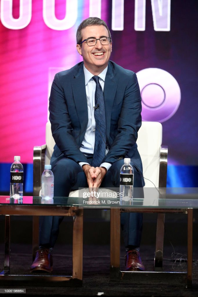 John Oliver of 'Last Week Tonight with John Oliver' speaks onstage during the HBO portion of the Summer 2018 TCA Press Tour at The Beverly Hilton Hotelon July 25, 2018 in Beverly Hills, California.