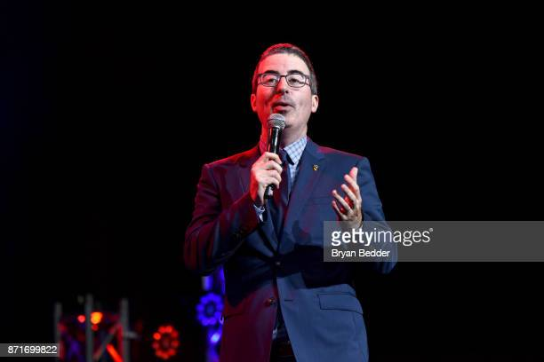 John Oliver speaks onstage during the 11th Annual Stand Up for Heroes Event presented by The New York Comedy Festival and The Bob Woodruff Foundation...